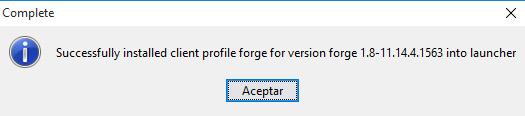 MinecraftForge Para Minecraft Descargar E Instalar 2