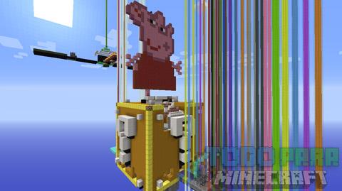 Peppa Pig Minecraft Mapa En Español 1
