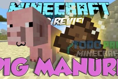 Pig Manure Mod Para Minecraft 1.8.8/1.8/1.7.10