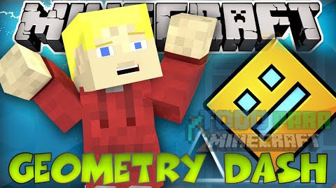 Geometry Dash Mapa Para Minecraft 1.8.9/1.8./1.8