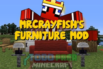 MrCrayfishs Furniture Mod Para Minecraft 1.8.8/1.8/1.7.10/1.7.2