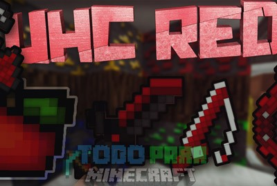 UHC RED Texture Pack PVP Para Minecraft 1.8.9/1.8.8/1.8