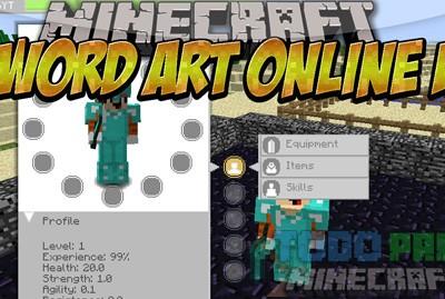 Sword Art Online UI Mod Para Minecraft 1.9/1.8.9/1.7.10