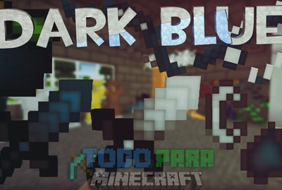 Dark Blue Texture Pack PVP Para Minecraft 1.8.9/1.8.8/1.8
