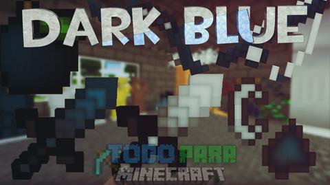 Dark Blue Texture Pack PVP Para Minecraft 1.8.9/1.8.8/1.8