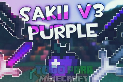 Texture Pack PVP Sin Lag 1.8 Y 1.9 | Sakii v3 Purple Pack
