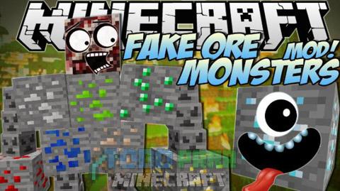 Fake Ores 2 Mod Minecraft 1.9.4/1.9/1.8.9/1.8