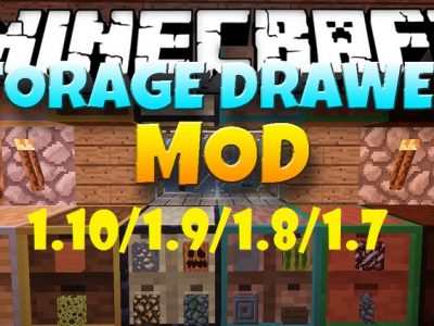 Mod Storage Drawers para Minecraft 1.10/1.9/1.8/1.7