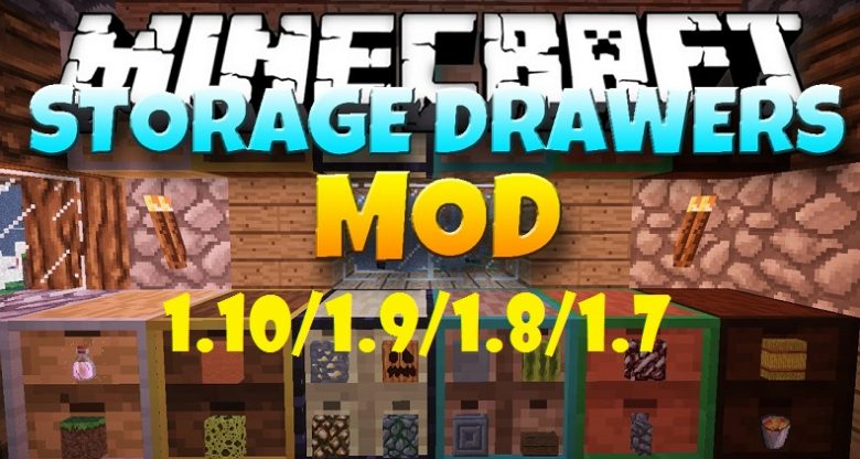 Mod Storage Drawers para Minecraft 1.10/1.9/1.8/1.7