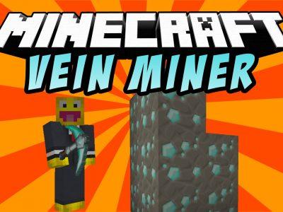 Mod VeinMiner para Minecraft 1.10/1.9/1.8/1.7/1.6/1.5