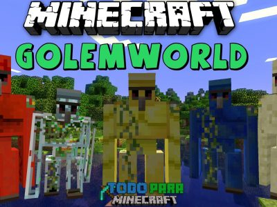 Mod Golem World para Minecraft 1.7/1.6 (Planeta Vegetta)