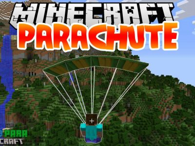 Mod Parachute para Minecraft 1.10/1.9/1.8/1.7/1.6 (Planeta Vegetta)