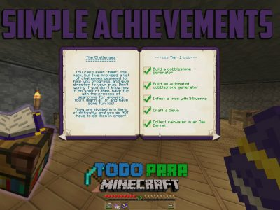 Mod Simple Achievements para Minecraft 1.10/1.7
