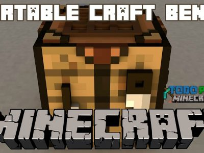 Mod Portable Craft Bench para Minecraft 1.11/1.10/1.9/1.8/1.7