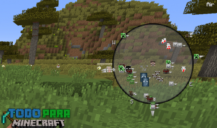Mod FindtheMobs para Minecraft 1.11/1.10