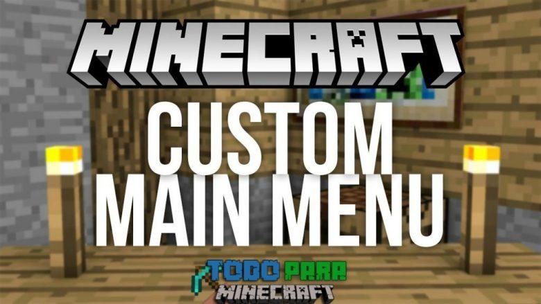 Mod Custom Main Menu para Minecraft 1.11/1.10/1.9/1.8/1.7
