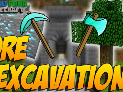 Mod Ore Excavation para Minecraft 1.12/1.11/1.10/1.7