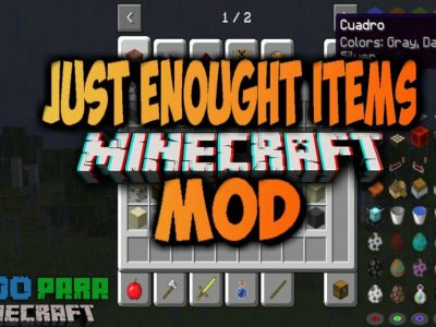 Mod Just Enough Items para Minecraft 1.12/1.11/1.10/1.9