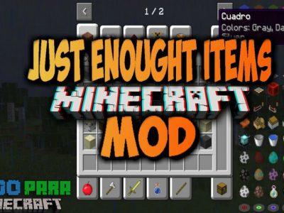 Mod Just Enough Items para Minecraft 1.12/1.11/1.10/1.9