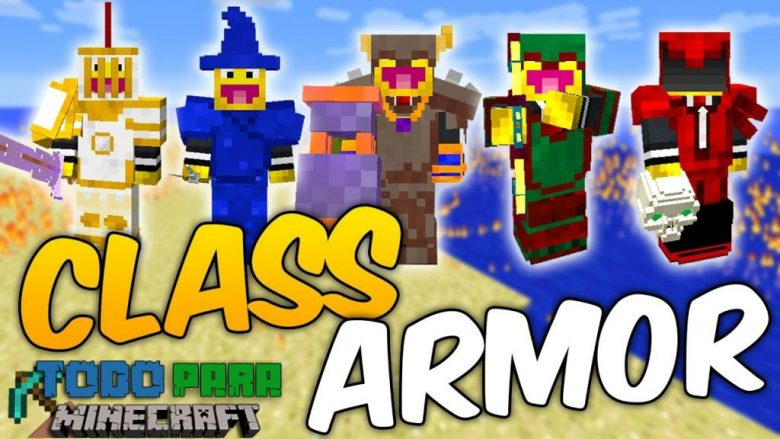 Mod Class Armor: Necromancer and Paladin para Minecraft 1.12/1.11/1.10